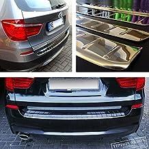 Premium Ladekantenschutz Edelstahl Chrom Look Stoßstangenschutz mit Abkantung BMW X5 E70 Facelift (ab 2010 - 2013)