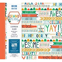 "Primera edición Grand Planes–Lámina decorativa de papel premium con Pad, papel, Varios Colores, 8x8"" Scrapbook Album"