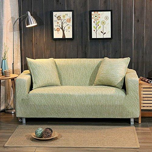 Zhiyuan Funda de sofá elástica de punto, 1 plaza, Menta verde