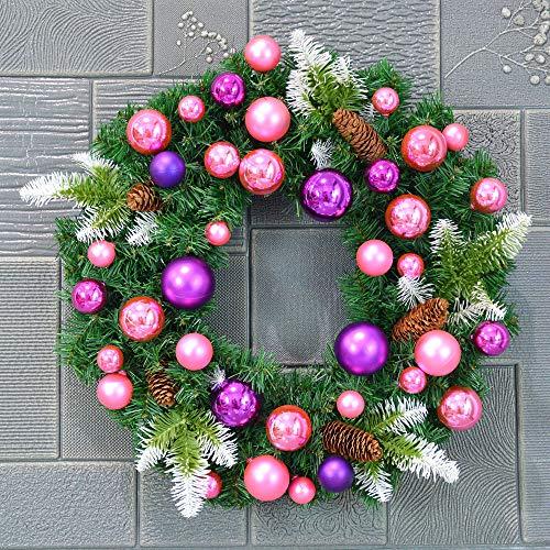 AX-ornament Weihnachtskranz Weihnachtsschmuck großer Kranz Rattan / 6