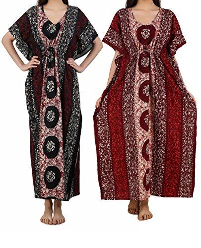 Masha Women's Cotton Kaftan 2Pcs Combo Set