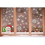 Voqeen Navidad Pegatina Calcomanías para Ventanas Lindo Decoración de Ventanas Espiar Santa Claus Rudolph Calcomanías electro