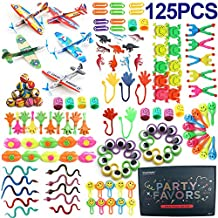 Amy&Benton Surtido de 125 juguetes para rellenar piñatas y bolsas de regalo de fiestas de cumpleaños