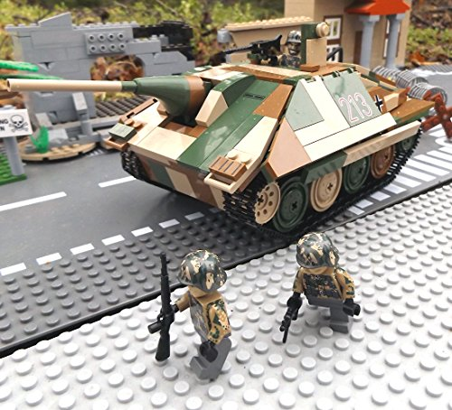 ✠ Modbrix 3001 – Bausteine Panzer Jagdpanzer 38 Hetzer inkl. custom Wehrmacht Soldaten aus original Lego© Teilen ✠ - 4