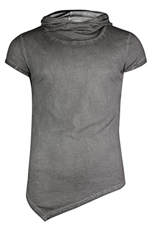 trueprodigy Casual Mens Clothes Funny And Cool Designer T-Shirts Shirt For  Men Plain Hooded Slim Fit Short Sleeve Grey Sale  Amazon.co.uk  Clothing d5860b949