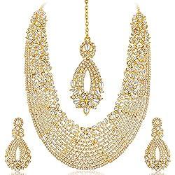 Sukkhi Choker Necklace for Women (Golden) (2100NADL3000-AMZ)