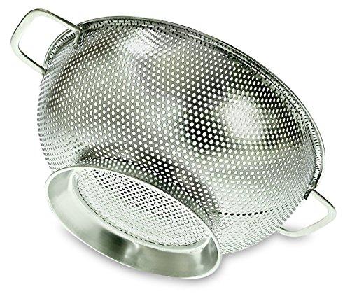 prioritychef Scolapasta, Colino da cucina in acciaio inox con maglia fine, larghezza 26cm, 3litri