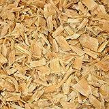 PALIGO Holzhackschnitzel Natur Hackschnitzel Wald Kiefer Pinus Sylvestris Garten Dekor Mulch Holz Häcksel Grob 0-60mm 70l Sack / 1 Karton Galamio®