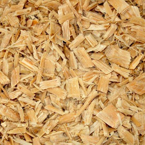 PALIGO Holzhackschnitzel Natur Hackschnitzel Wald Kiefer Pinus Sylvestris Garten Dekor Mulch Holz Häcksel Grob 0-60mm 70l x 12 Sack 840l / 1 Palette Galamio® (G30 Eisen)