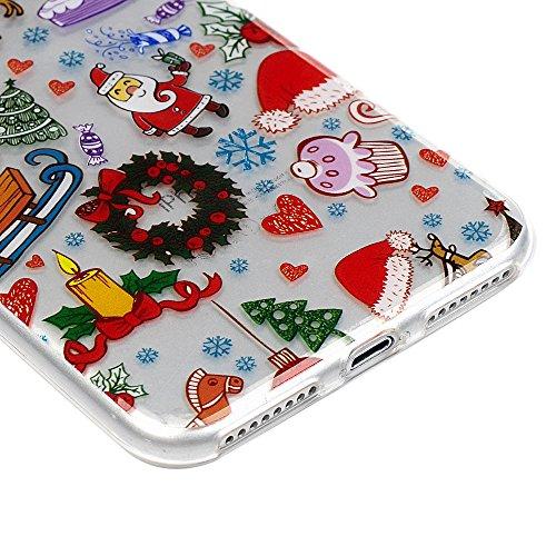 iPhone 7 / iPhone 8 Coque Mavis's Diary Étui Housse TPU Silicone Gel Coque de Protection Transparente Noël Phone Case Cover Antichoc Protection écran Swag pour iPhone 7 / iPhone 8 4.7'' Ultra Fine Lég Decoration Noël