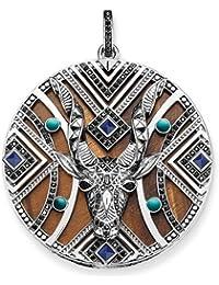 Thomas Sabo Africa Antelope Zirconia/Simulated Turquoise/Tiger's Eye/Simulated Lapis Lazuli Pendant