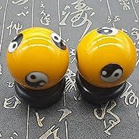 QTZS Chinesische Traditionelle Fitness-Ball Dekompression Handball Gelb Tai Chi 50mm450g preisvergleich bei billige-tabletten.eu