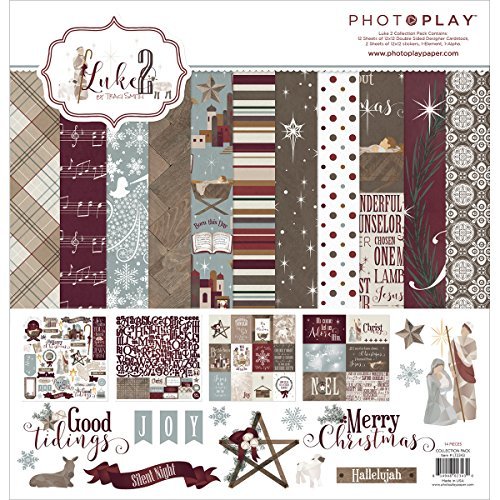 """Photo Play Collection Pack 12""""X12""""-Luke 2, Prints"""