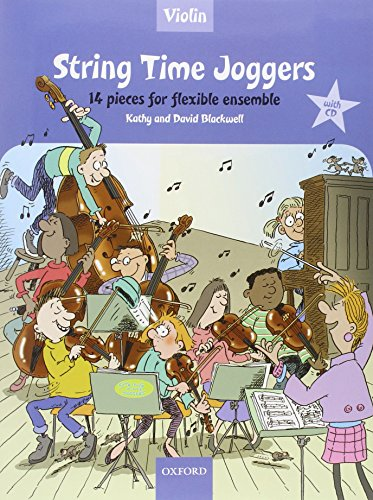String Time Joggers Violin book + CD: 14 pieces for flexible ensemble (String Time Ensembles)