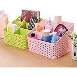 FASTUNBOX (LABEL) Plastic Storage Basket - 21.7x18.3x15.9cm, Set of 2 PCS Multicolour