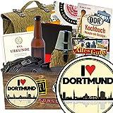I love Dortmund | NVA Geschenkset | Geschenkkorb | I love Dortmund | NVA Paket | Geschenk Mutter Dortmund | mit Original Feldflasche der NVA, Flasche NVA Bier und mehr