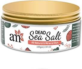 AromaMusk 100% Natural and Mineral Rich Dead Sea Salt For Deep Cleaning & Skin Exfoliation, 100Gm