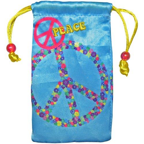 Amzer Universal Tasche mit Kordelzug für Handy, MP3-Player, iPod, Elektronik und Zubehör, in Handelsverpackung, Peace-Zeichen (Pantech Cover Handy)