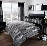 New York Black Printed Stylish Duvet Cover With pillow Case Bedding Set (DOUBLE)
