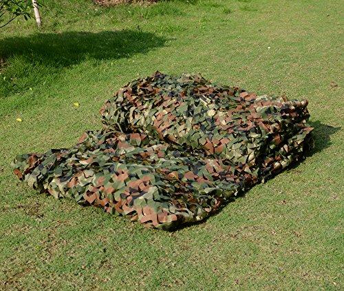 Foto de Red de camuflaje, 2x 3m, estampado militar, hojas, para acampadas y caza