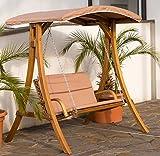 Design Hollywoodschaukel RIO aus Holz Lärche mit Dach von AS-S