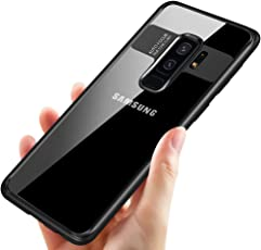 tronisky Samsung Galaxy S9 Plus Handyhülle, Galaxy S9 Plus Silikon Hülle Premium Bumper Case Kratzfest Anti-Shock TPU Taschen Case Ultra Dünn Schutzhülle für Samsung S9 Plus Case Cover, Schwarz