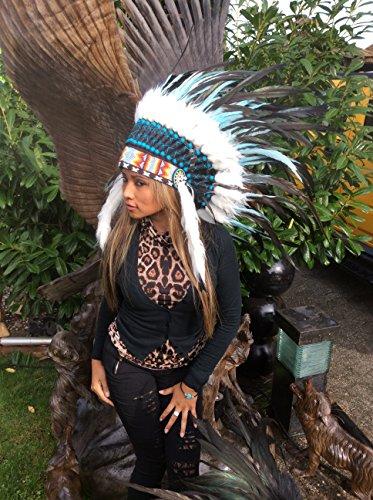 kenai Federhaube ,Indianer Haube,War Bonnet ,Indian Headdress ,Coiffe indienne ,Squaw,Pocahontas,Winnetou