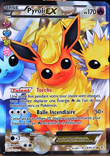 carte Pokémon RC28 Pyroli-EX 170 PV - ULTRA RARE - FULL ART