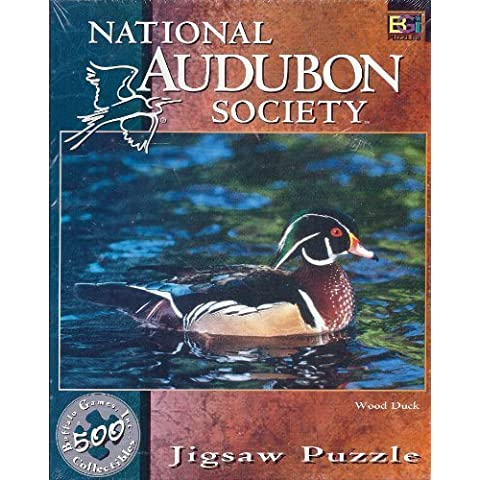 National Audubon Society Jigsaw Puzzle Wood Duck by BIG BUFFALO INC. - Audubon Wood Duck