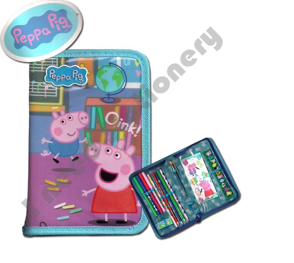Peppa Pig – Estuche individual para lápices ideal para la escuela, arte universitario