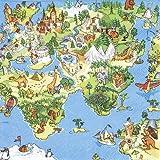 20 Servietten World for Kids – Welt in Augen der Kinder / für Kindergeburtstag 33x33cm