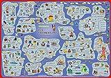 mindmemo Lernposter - Les premiers pas - Französisch für Einsteiger - Vokabeln lernen mit Bildern - geniale Lernhilfe - DinA2 PremiumEdition