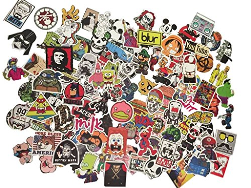 Tony US 100pcs Random Assorted Decal Stickers for Skateboard Snowboard Vinyl Graffiti Laptop Luggage Car Bike Bicycle