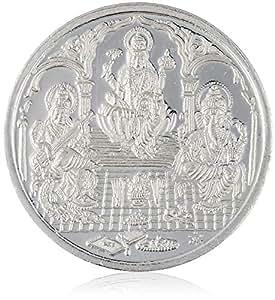 Ava Traditional Ganesh Laxmi and Saraswati BIS Hallmarked 999 Purity 10 Gram Silver Coin (SC-SE-002)