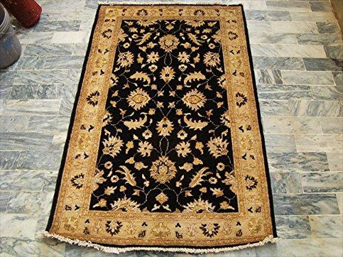 Schwarz Chobi Zeigler Mahal Hervorragende entworfen Vegetarier gefärbt Bereich Teppiche Teppich von Hand geknotet (5.1x 3,2) ' (Teppich Schwarz Mahal)