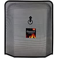 JVL Quantock Spark Fire Guard Surround Screen, Black - ukpricecomparsion.eu