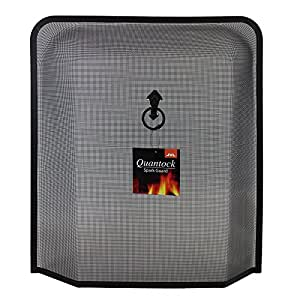 JVL Quantock Spark Fire Guard Surround Screen, Black