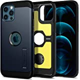 Spigen Tough Armor Back Cover Case Compatible with iPhone 12 Pro Max (TPU + Poly Carbonate | Metal Slate)