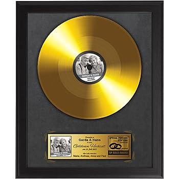 Goldene schallplatte zur goldenen hochzeit - Goldene wanddeko ...