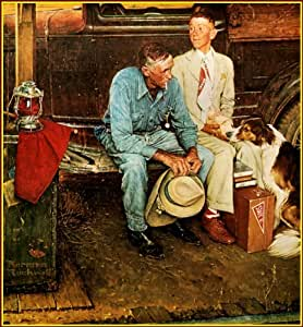 Norman Rockwell: Breaking Home Liens, Old Vintage Art Print 1954, 11,1/5,1x 38,1cm