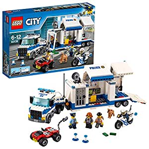 LEGO 60139 City Police Mobile Command Center Building Set, Toy Truck and Motorbike, Police Toys for Kids
