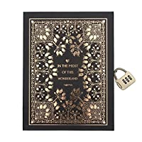 Cuzit Classical Mythology Abuse Golden Notebook with Password Lock-Classic Diary &Journal -Lined Pages- Best Gift