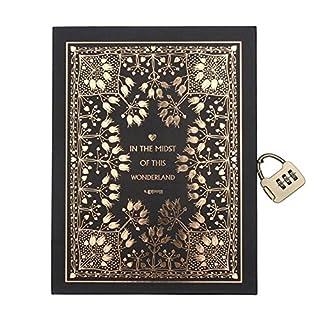 cuzit klassischen Mythologie schützt Golden Notebook mit Passwort lock-classic Tagebuch und Tagebuch -, liniert, beste Geschenk