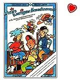 Mon Lustiges Maison CONCERTO POUR FLûTE à BEC Ensemble et de suivi–Partition et voix–Note livre avec pince avec cœur Note colorée