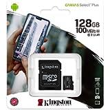 Kingston Canvas Select Plus SDCS2/128GB Scheda microSD Classe 10 con Adattatore SD Incluso, 128 GB