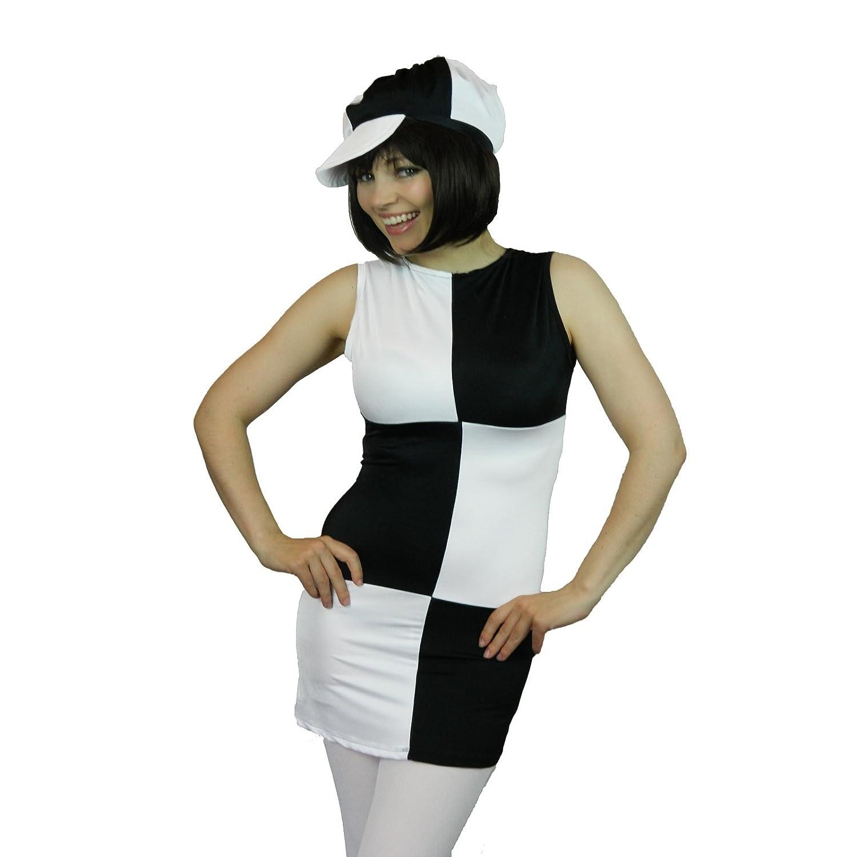 Black and white disco dress