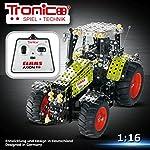 Tronico Metallbaukasten, RC Traktor, Claas Axion 850, ferngesteuert, 27 MHZ, 734 Teile, 1:16, bebilderte Aufbauanleitung, Baukasten inklusive Werkzeug, Profi Serie, ab 8 Jahren, rcee