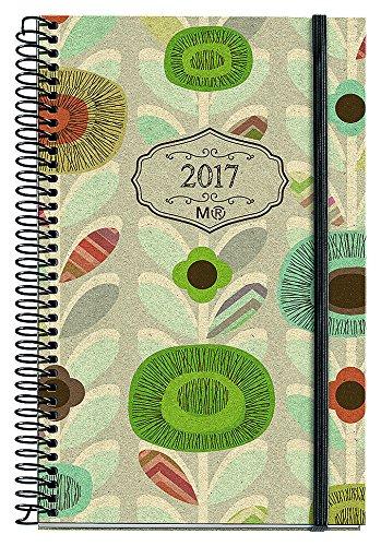 Miquelrius 38053 - Agenda anual espiral, 117 x 182 mm, semana vista con goma ecoflowers