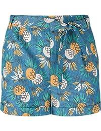 XXYsm Shorts Damen Sommer Lose Elastische Kurze Hosen Ananas