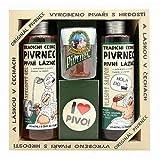 KOSMETIK PIVRNEC - SET AUS GEL, SHAMPOO, SEIFE UND KNOPF PIVRNEC Czech Bier